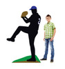 Life-size Baseball Player Sillouette Cardboard Standup 3