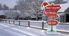 Holiday Directional Yard Sign Outdoor