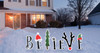 Believe Yard Sign Outdoor | Outdoor Christmas Decor | Cardboard Cutout