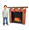 3D Brick Fireplace Life-Size Cardboard Cutout | Chirstmas Decor