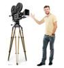 Life-size Hollywood Camera Cardboard Standup | Cardboard Cutout 3