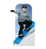 Action Snowboarder Standin-lifesize