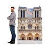 Notre Dame Standee with Model.
