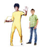 Life-size cardboard Bruce Lee standee with model