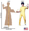 Life-size Bruce Lee cardboard standee front view and back view