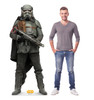 Mudtrooper™ Life-size cardboard standee with model