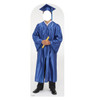 Male Graduate Blue Cap and Gown