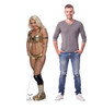 Mandy Rose Life-size cardboard standee with model