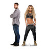 Carmella Life-size cardboard standee with model.