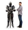 Life-size cardboard standee of a Knight in Armor with model.