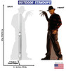 Freddy Krueger outdoor standee with back and front dimension.