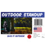 "Pennywise ""IT"" outdoor standee with setting, dimensions, UPC and list of items included."