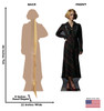 Queenie Goldstein Lifes-size Cardboard Standee Front and Back with Dimensions.