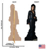 Maledictus Lifes-size Cardboard Standee Front and Back with Dimensions.
