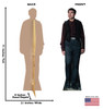 Credence Barebone Lifes-size Cardboard Standee Front and Back with Dimensions.