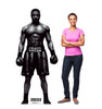 Life-size cardboard standee of Adonis Creed from Creed II with model.