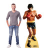 Life-size cardboard standee of Rocky from Rocky II with model.