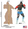 Life-size cardboard standee of Clubber Lang from Rocky III. Back and front with dimensions.