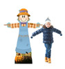 Life-size cardboard standee of Scarecrow Female with model.