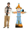 Life-size cardboard standee of Scarecrow Male with model.