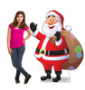 Life-size cardboard standee of Illustrated Santa Claus with model.
