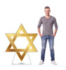 Life-size cardboard standee of Star of David with model.