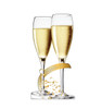Life-size cardboard standee of Celebrate Champagne Glasses.