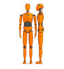 Life-size cardboard standee of Crash Test Dummies (set of two).