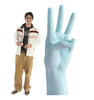 Life-size cardboard standee of a Number 3 Hand with model.