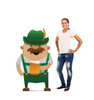 Life-size cardboard standee of a Irish Man Drinking - Animated with model.
