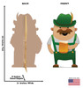 Life-size cardboard standee of a Irish Man Drinking - Animated with back and front dimensions.