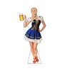 Life-size cardboard standee of a Bar Maiden Blue Skirt.