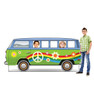 Life-size cardboard standin of Hippie Bus with model.
