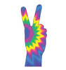 Life-size cardboard standee of 70's Peace Fingers.