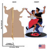 Life-size cardboard standee of 50's Dance Couple with back and front dimensions.
