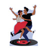 Life-size cardboard standee of 50's Dance Couple.
