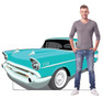Life-size cardboard standee of 50's Car with model.