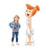 Life-size cardboard standee of Wilma Flintstone with model.