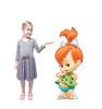 Life-size cardboard standee of Pebbles Flintstone with model.