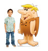 Life-size cardboard standee of Barney Rubble with model.