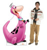 Life-size cardboard standee of Dino with model.