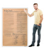 Life-size cardboard standee of We The People, US Constitution with model.