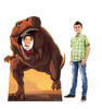 This is a life-size cardboard standin of a Dinosaur with model.