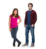 Life-size cardboard standee of Archie Andrews from the TV Series Riverdale with model.