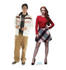 Life-size cardboard standee of Cheryl Blossom from the TV Series Riverdale with model.
