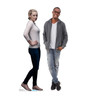 Life-size cardboard standee of Betty Cooper from the TV Series Riverdale with model.