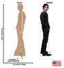 Life-size cardboard standee of Jughead Jones from the TV Series Riverdale with back and front dimensions.