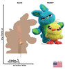 Ducky and Bunny - Toy Story 4 Cardboard Cutout Front and Back View