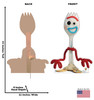 Forky - Toy Story 4 Cardboard Cutout Front and Back View