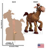 Bullseye - Toy Story 4 Cardboard Cutout Front and Back View
